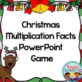 Christmas Basic Multiplication Facts PowerPoint Game
