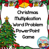 Christmas Basic Multiplication Word Problem PowerPoint Game