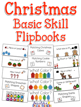 Christmas Basic Skill Flipbooks