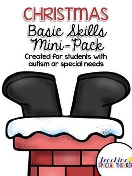 Christmas Basic Skills Mini-Pack for students with Autism or Special Needs