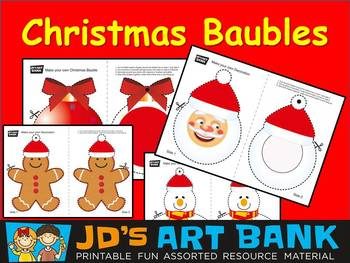 Christmas Bauble Decorations Set of 4