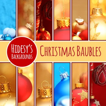 Christmas Bauble Digital Papers / Backgrounds / Photos for Commercial Use