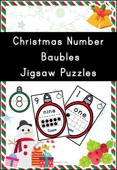 Christmas Bauble Number Jigsaws