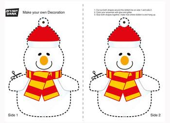 Christmas Bauble Snowman