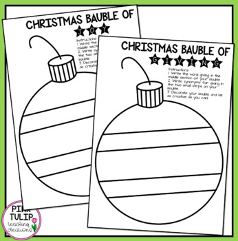 Christmas Bauble Synonym Activity