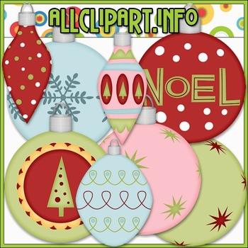 Christmas Baubles 1 Clip Art