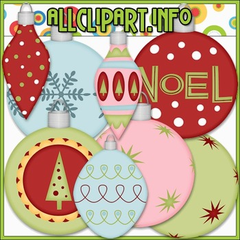 Christmas Baubles 1 Clip Art