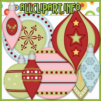 Christmas Baubles 2 Clip Art