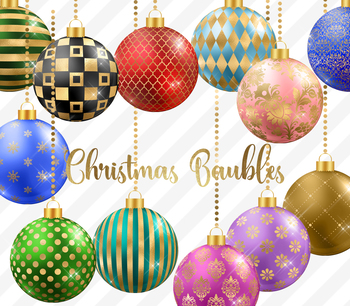 Christmas Baubles, Balls and Ornaments PNG Clipart