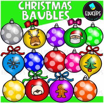 Christmas Baubles Clip Art Bundle  {Educlips Clipart}