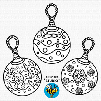 Christmas Baubles Clip Art Set 2 By Busy Bee Studio