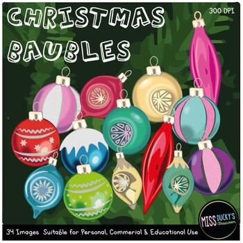 Christmas Baubles Clip art