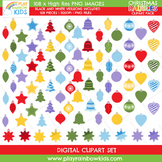 Christmas Baubles Clipart Pack