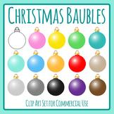 Christmas Baubles / Decorations / Ornaments Clip Art Set