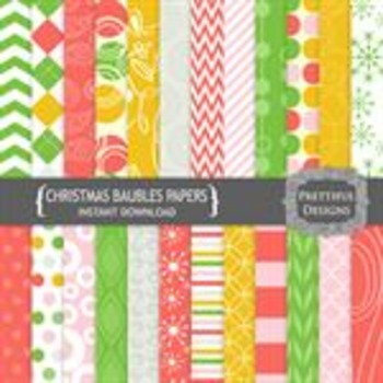Christmas Baubles Paper Pack