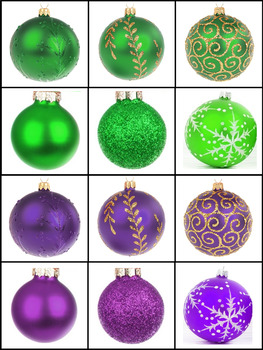 Christmas Baubles Sorting by Color