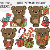 Christmas Bear Clipart (Studio Elska)