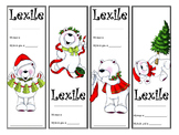 Christmas Bear Themed Lexile Bookmarks