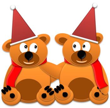 Christmas Bears Clipart
