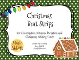 Music Christmas Beat Strips and Composition Cards for Rhyt