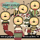 Christmas Bees 300 dpi clipart