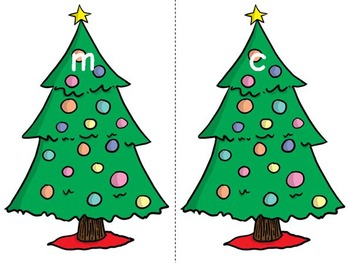 A-Z Alphabet Beginning Sound Sort Games and Printables - Christmas