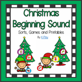 A-Z Alphabet Beginning Sound Sort Games and Printables - Christmas
