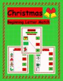 FREE Christmas Beginning Letter Match