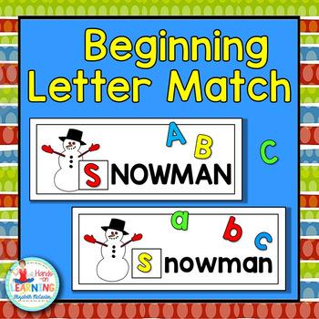 Christmas Beginning Letter Match - A Christmas Literacy Center