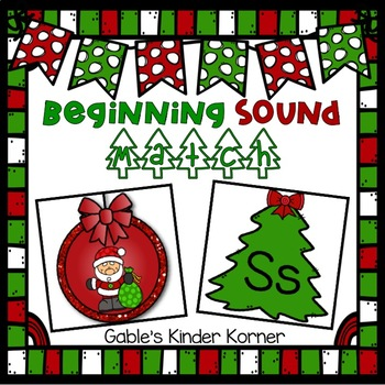 Christmas Beginning Sound/Letter Match