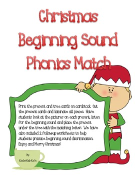 Christmas Beginning Sound Phonics Pack