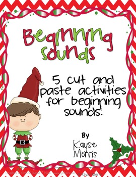 Christmas Beginning Sounds with Cut and Paste Fun