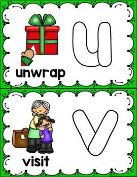 Alphabet Play Dough Mats - Christmas Beginning Sounds