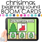 Christmas Beginning Sounds Boom™ Cards - Distance Learning