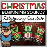Christmas Beginning Sounds Literacy Center Activity for Pr