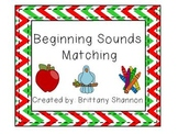 Christmas Beginning Sounds Matching