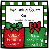 Christmas Beginning Sounds Sort