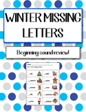 Language Arts - Missing Beginning Sounds Winter Themed Worksheet