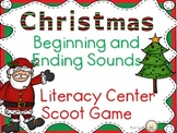 Christmas Beginning and Ending Sounds Task Cards