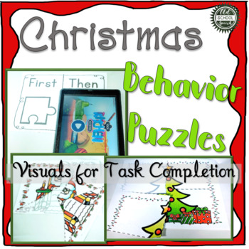 Christmas Behavior Puzzle: Visuals for Task Completion