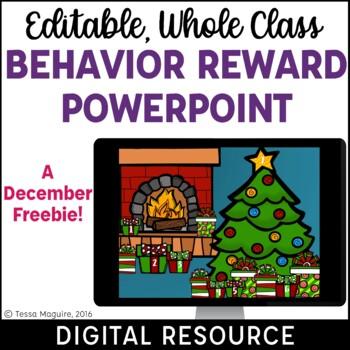 Christmas Behavior Reward System