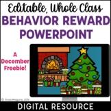 Christmas Classroom Management Behavior Reward System