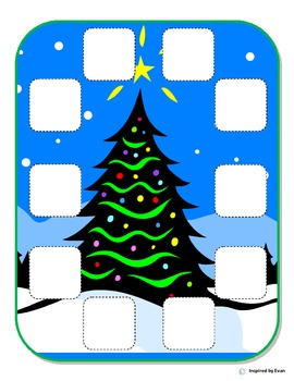 """Christmas"" Behavior Token Boards for Autism"