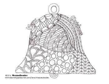 Christmas Bell Colouring Page