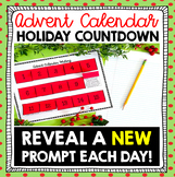 Christmas Bell Ringer: Advent Calendar Interactive Notebook Writing Prompts