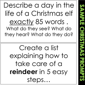 Christmas Bell Ringers (Interactive Writing Prompts)