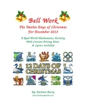 Christmas Bell Work - 12 days of Christmas (song & math activities)