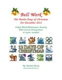 Christmas Bell Work - 12 days of Christmas (song & math activities)