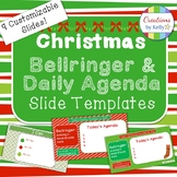 Christmas Bellringer and Daily Agenda Slide Templates (All Grade Levels)