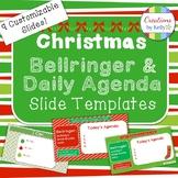 Christmas Bellringer and Daily Agenda Slide Templates (All Grade Levels)